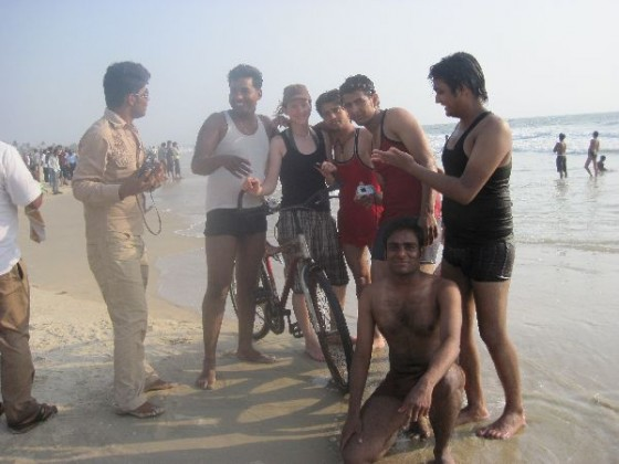 Viele Inder wollen ein Foto mit Martina