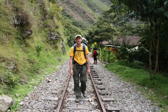 Die Gleise nach Aguas Calientes entlang