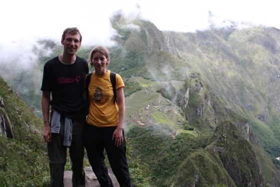 Aussicht vom Huayna Picchu auf Machun Picchu