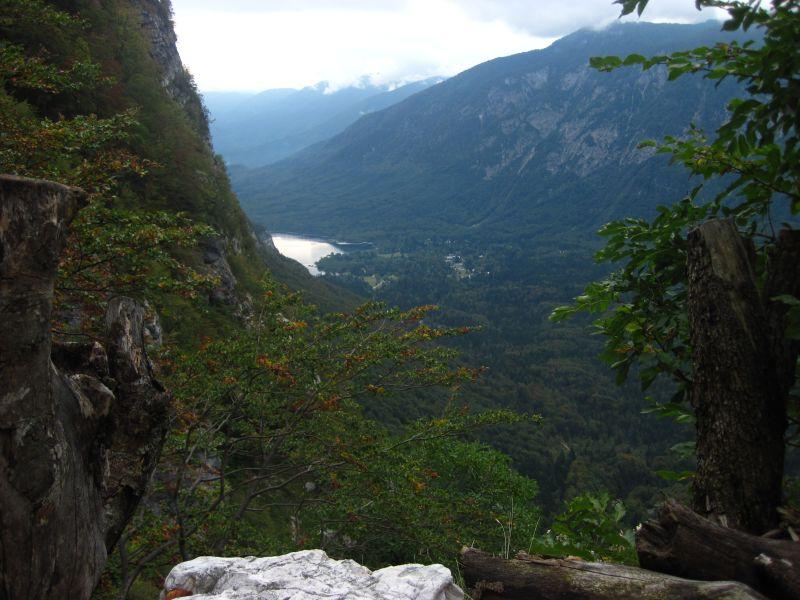 Der Bohinjsko Jezero von oben
