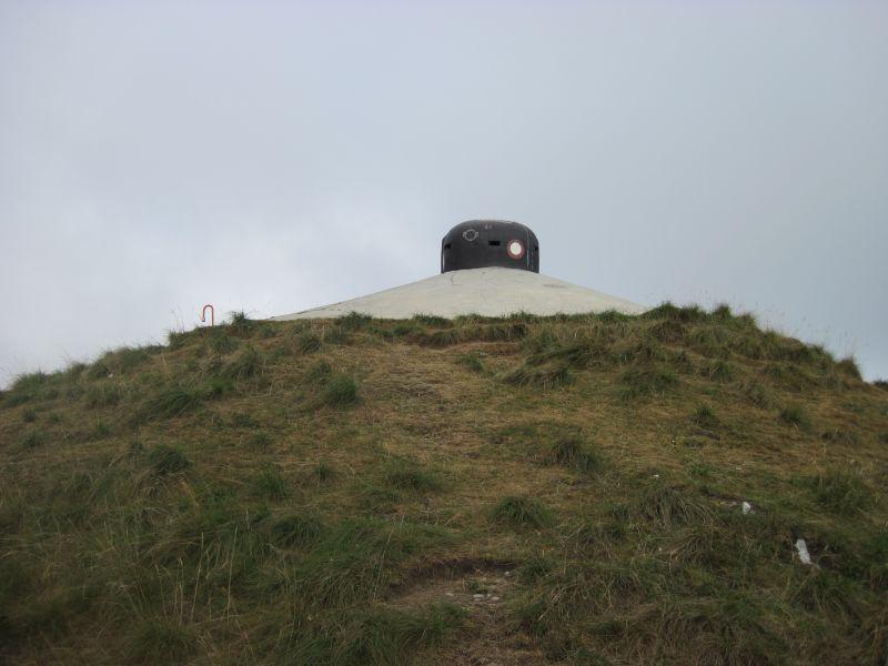 Bunker statt Gipfelkreuz