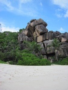 Der erste Strand den wir auf den Seychellen besuchten: die Grand Anse auf La Digue. Ein Seychellenstrand wie aus dem Bilderbuch.